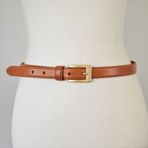 Fossil Chic Genuine Leather Belt with Gold Buckle